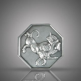 مدالیون(سکه یادبود) نقره، طرح باستانی ، 8 ضلعی