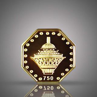 مدالیون(سکه یادبود) طلای برج میلاد